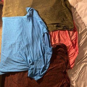 Lululemon set of 4 shirts